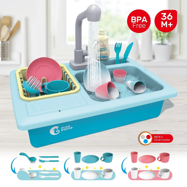Stone Color Changing Kitchen Sink Toys