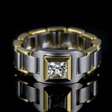 ringsformen, 18k gold, wedding ring, Chain