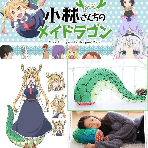 Anime Miss Kobayashi Dragon Maid Kanna Kamui Kobayashi San Chi No Maid  Dragon Tohru Plush Toy Doll Tail Cosplay Costume