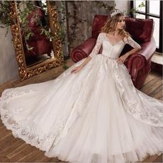 Plus Size, Lace, Sleeve, Bride