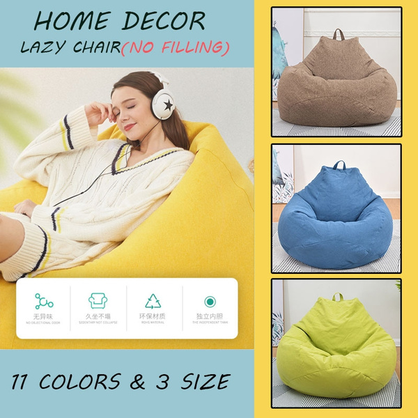 Pleasant New Home Decor S M L 11 Colors Solid Color Home Decor Single Bean Bag Lazy Sofa Cover Diy Filled Inside No Filling Pabps2019 Chair Design Images Pabps2019Com