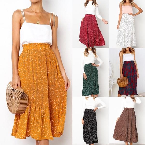 Summer, long skirt, summer skirt, Waist