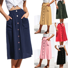 Summer, pencil skirt, pencil, cottonskirt
