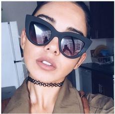 Women, geometricframesunglasse, Fashion, eye
