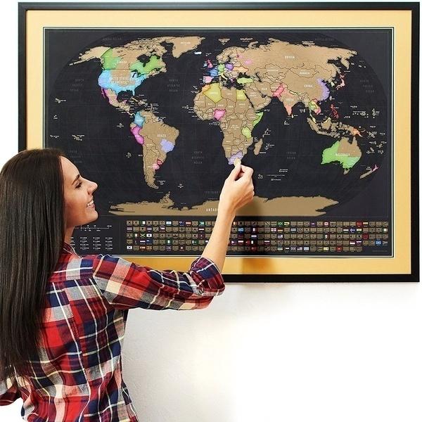 Map, worldmap, scratchmap, weather map