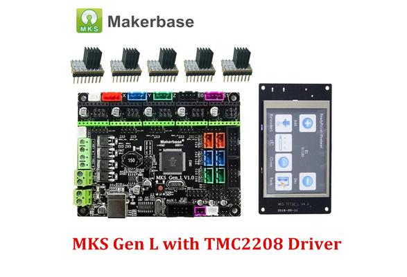 3D Printer Control Board MKS Gen L V1 0 and MKS TFT32 5PCS TMC2208 Driver  with Heatsink Compatible for Ramps1 4/Mega2560 R3