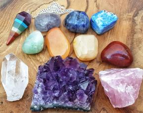 chakrastoneset, crystalcluster, quartz, reikihealing