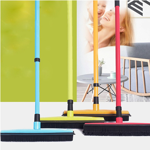 Floor Hair Broom Dust Scraper Pet Rubber Brush Carpet Carpet