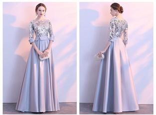 golden, sequinsdre, Elegant, Evening Dress