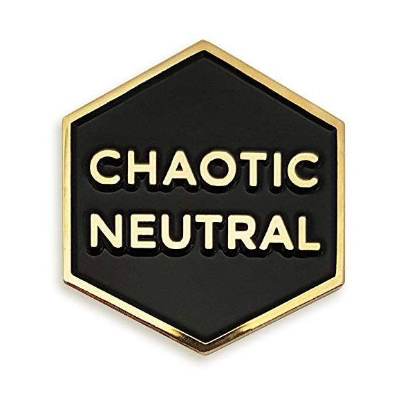 Chaotic Neutral Enamel Lapel Pin by Wish