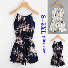 Summer, Plus Size, Loose, floralprinted