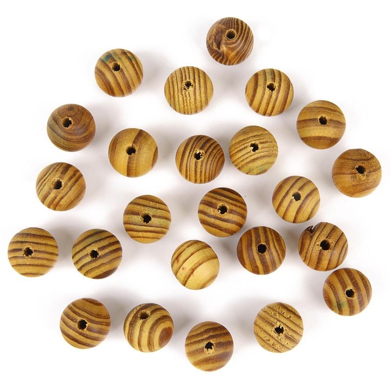 200Pcs Natural BurlyWood Brown Beads Wooden Round Bead DIY Craft Supply Wood 8mm
