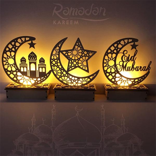 party, led, eidmubarak, starmoondecoration