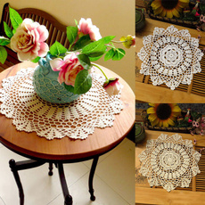 vintagecotton, Flowers, Coasters, Lace