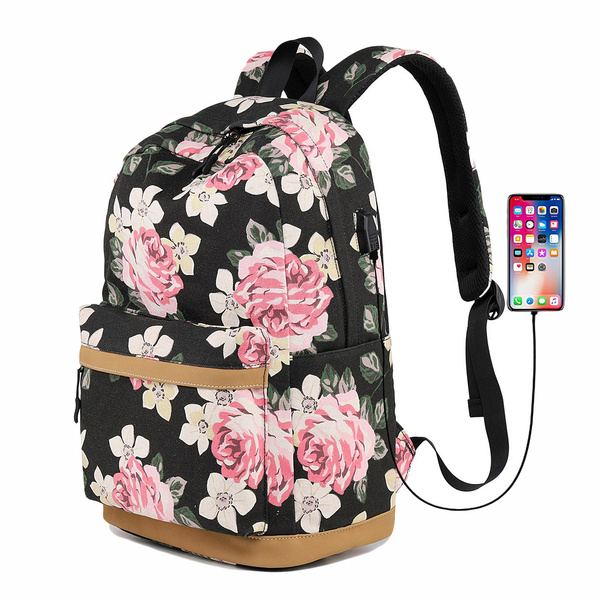 Canvas Printed Backpack Widened Large