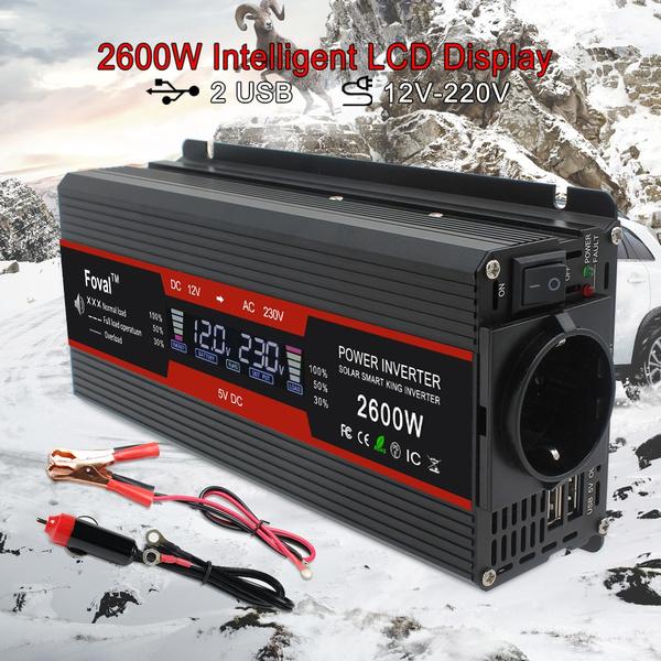 Transformer, 2600winverter, usb, 1500winverter