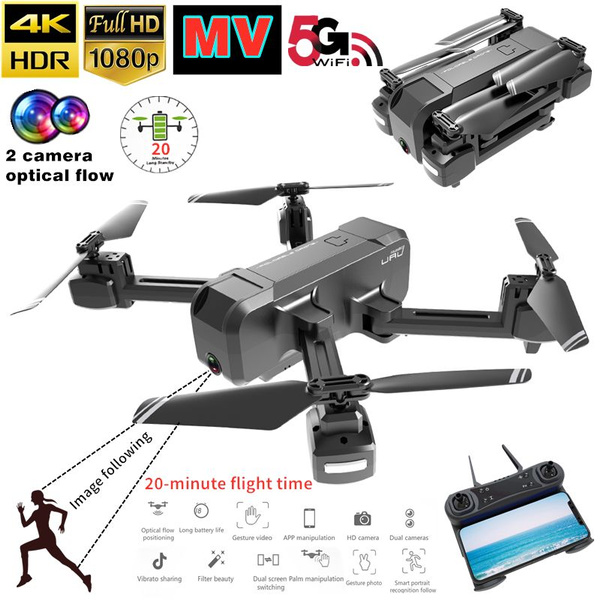The Latest Style This Year MV Functionality Dual Camera FPV HD 4K RC Drone  1800mAh Super Long Battery Life+Gravity Sensing+Optical Flow