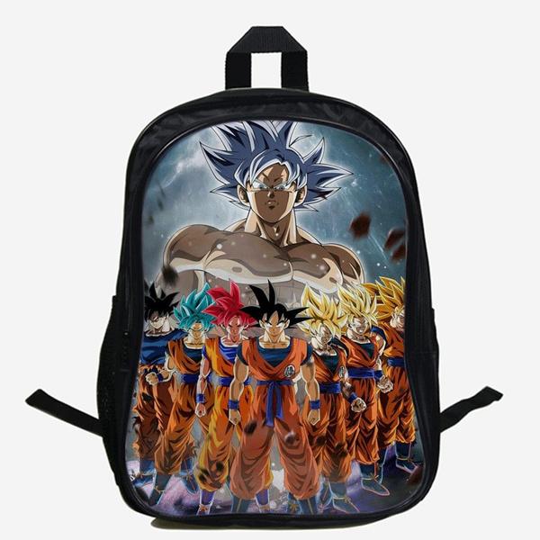 NEW Dragon Ball Z Anime Son Goku Super Saiyan Kids School Shoulder Backpack Bag