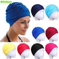 Free Size Swimming Cap Long Hair Sports Swim Pool Hat