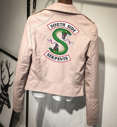 serpent, PU, leather, Jacket