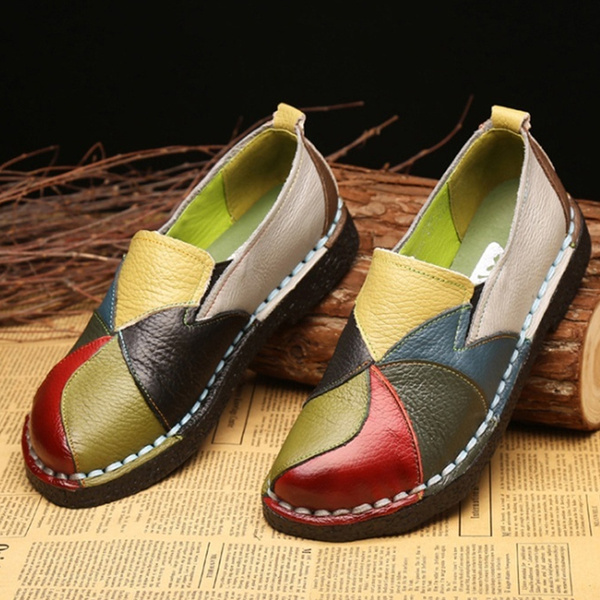 NEW Women/'s Casual Slip On Loafers Shoes Driving Flats Comfortable Shoes retro