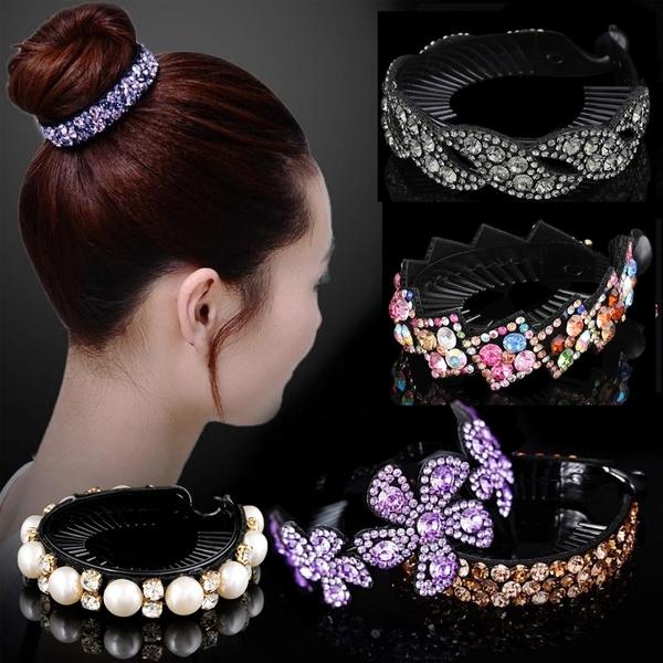 Fashion, Rhinestone, Hair Pins, hairbunmaker
