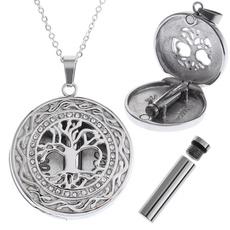 Steel, keepsakenecklace, treeoflifependant, Jewelry