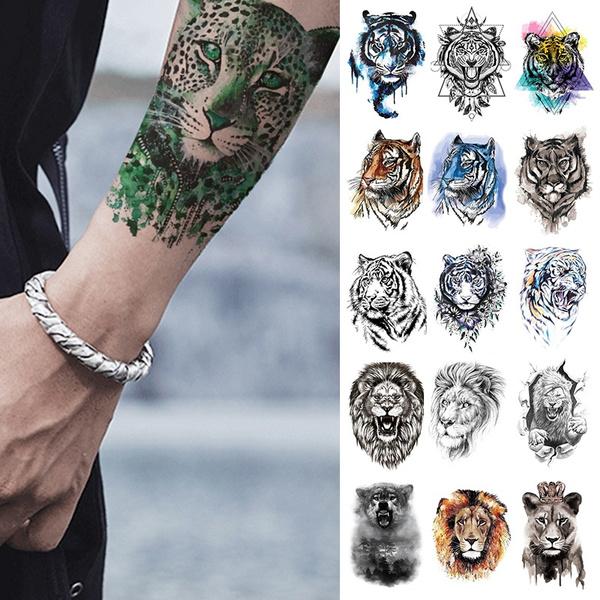 c8ec5bb6d 1x DIY Body Art Temporary Tattoo Sticker Colorful Animals Watercolor ...