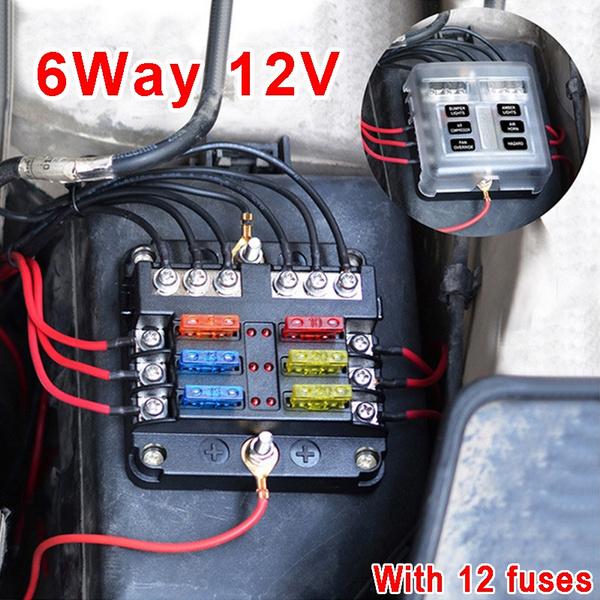 New 6 Way 12V 24V Auto Car Power Distribution Blade Fuse Holder Box New Car Fuse Box on car interior fuse box, vintage car fuse box, new car tail light, new car gas tank, new car tire, new car gas cap,
