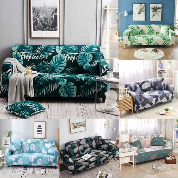 Magnificent 9 Styles 1 4 Seaters Sofabezug Feathers Leaf Tropical Plant Flower Sofa Cover Cotton Elastic Sofa Slipcovers Corner Sofa Towel Couch Cover Sofa Theyellowbook Wood Chair Design Ideas Theyellowbookinfo