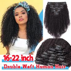 Head, brazilianhumanhair, clip in hair extensions, curlyhumanhair