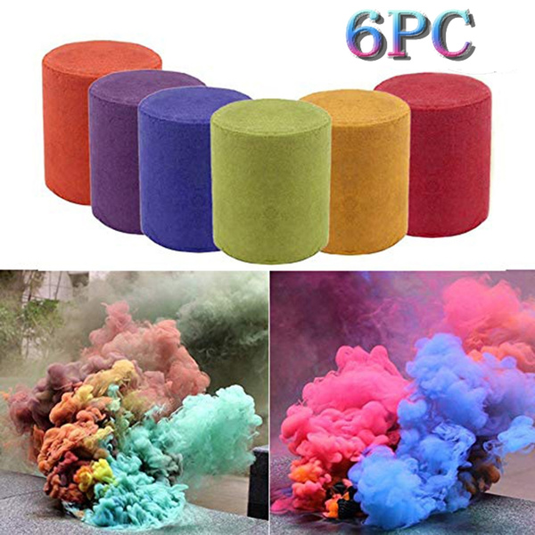 Smoke Cake Smoke Effect Show Round Bomb Photography Aid Toy Divine Gift 7  Colors Halloween Night Fog Background