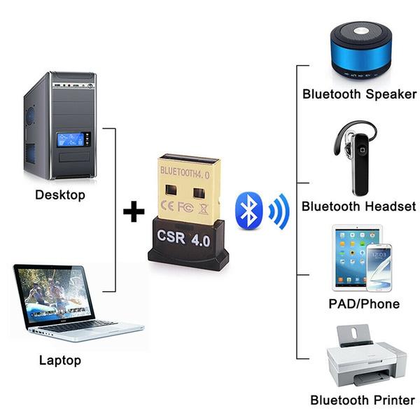 New Mini USB Bluetooth Adapter CSR Dual Mode Receiver for Windows 10//8//7//XP V4.0