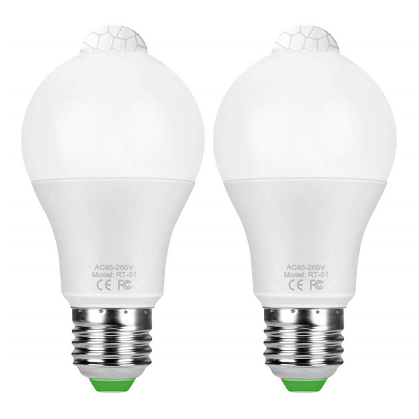 1pcs Led Pir Motion Sensor Light Bulb E27 Led Bulb 12w 18w Dusk To Dawn Night Light E27 Base Indoor Outdoor Smart Lighting Lamp
