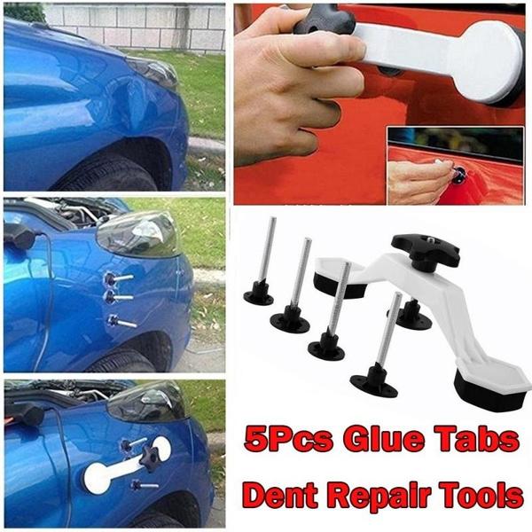 Dent Bridge Puller Kit Car Body Dent Repair Tool PDR Remover Kit with 5pcs Glue Tabs