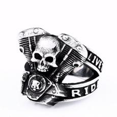 Steel, men_rings, punkringformen, Jewelry