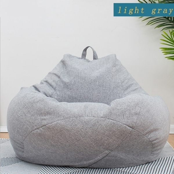 Enjoyable Large Bean Bag Chairs Sofa Cover Without Filler Indoor Lazy Lounger For Adults Kids No Filling Caraccident5 Cool Chair Designs And Ideas Caraccident5Info