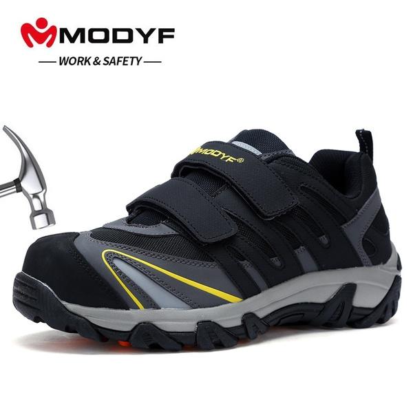 Men Velcro Safety Steel Toe Safety