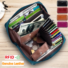 rfidwallet, hollowing, genuine leather, retrowallet