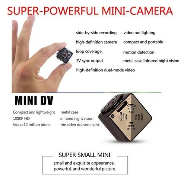 Mini Camera Night Vision Camcorder Car DVR Infrared Micro Video Recorder  Sport Digital DV Camera Spy Hidden