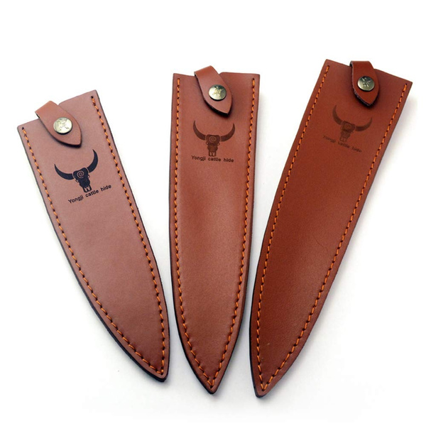 Chef Knife Sheath Leather Scabbard Kitchen Knives Holder With Belt Loop Sheaths Pocket Hunting Tactical Holster Bag Wish