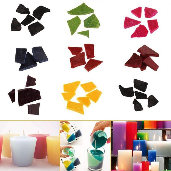 10g/Bag Multi-color Candle Wax Dye Chips For DIY Candle Making Coloring