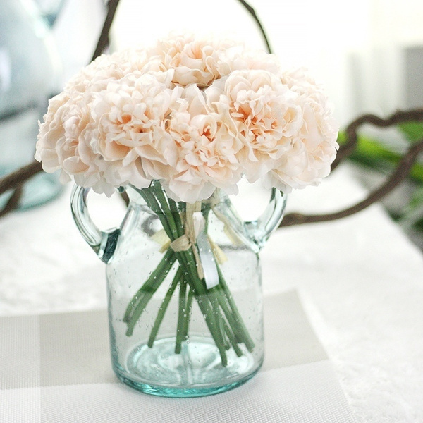 1 Bouquet 5 Heads Artificial Peony Silk Flowers Bridal Hydrangea Wedding Decor