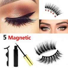 False Eyelashes, 3deyelashe, eyelinereyelashesset, Beauty