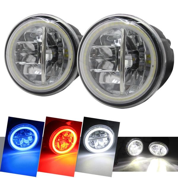 Car Fog Light LED Angel Eye Daytime Running Light DRL H11 12V For Nissan  Rogue Qashqai Patrol Tiida Juke Quest Lafesta
