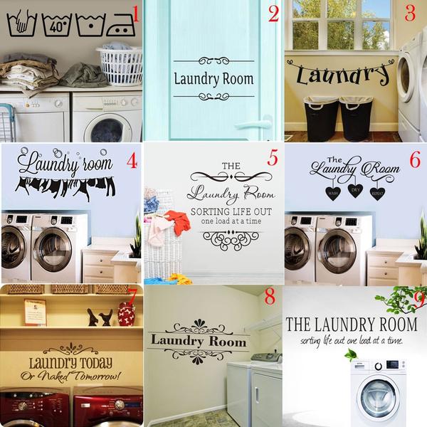 washingmachinemural, washingmachinedecoration, Home Decor, Stickers