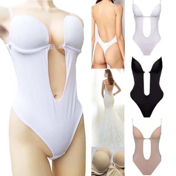 Backless Bra Croset Deep V Invisible Underwear Wedding Dress Siamese Underwear