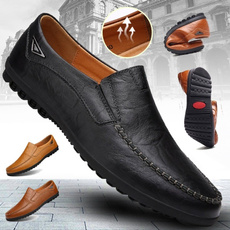Plus Size, casualleathershoesformen, casual leather shoes, casual shoes for men