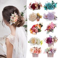 flowerhaircomb, womenhair, bridalheadwear, Head Bands