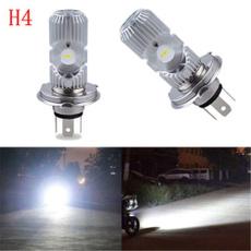 6500K Motorcycle LED H4 HS1 Hi Lo COB Light Headlight Motorbike Bulb Lamp DC 12V